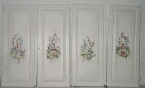 porte dipinta a mano