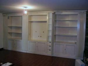 libreria bianca laccata